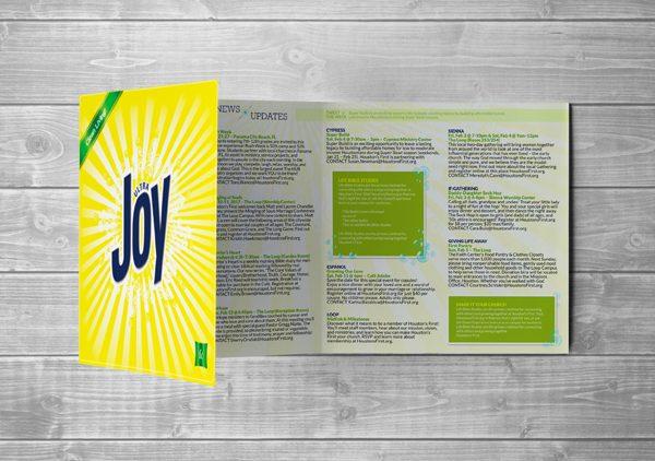 church program trifold design with purpose